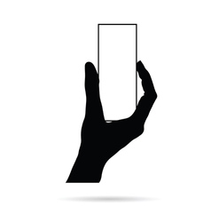 Hand with card empty black vector
