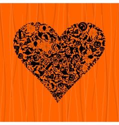 Heart Halloween vector image