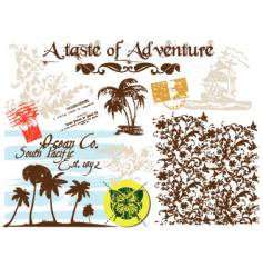 adventure graphic vector image