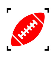 american simple football ball red icon vector image
