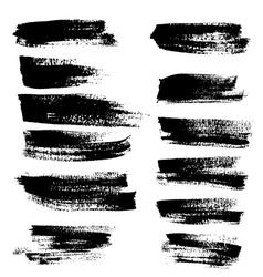 Black ink brush strokes vector