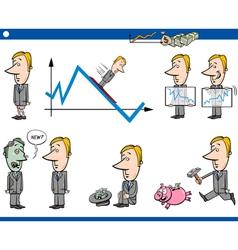 Business cartoon concept set vector