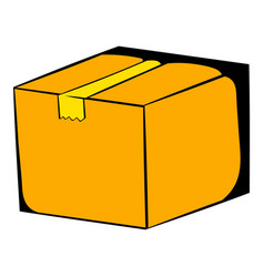 Cardboard box icon cartoon vector
