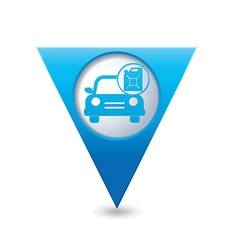 Cars canister blue triangular map pointer vector