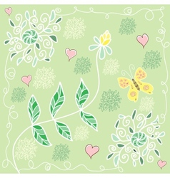 colorful summer floral pattern vector image