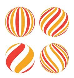 Creative spheres vector