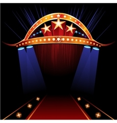 Famous red carpet vector