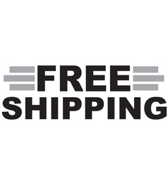 Free shipping text vector