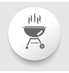 Grill and barbeque related icon vector image