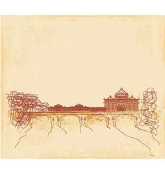 grunge background - hand draw Basilica di San vector image