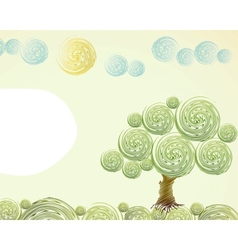 Hand Drawn ornate swirl summer vector image