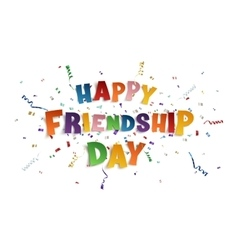 Happy Friendship Day background template vector image