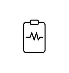 Heartbeat clipboard icon on white background vector