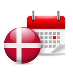 Icon of national day in denmark vector