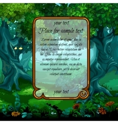 Landscape with nature and frame for sample text vector image vector image