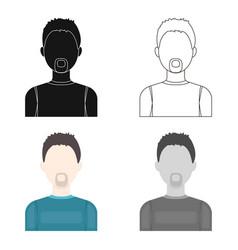 Man with a beard icon cartoon single avatar vector