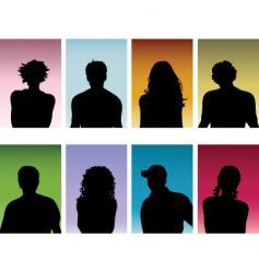 People portraits vector