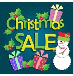 Sale Christmas vector image vector image