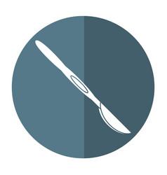 Scalpel surgery tool hospital shadow vector