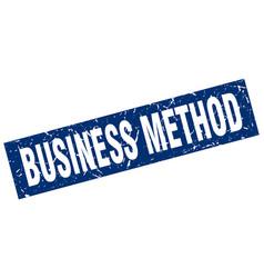 Square grunge blue business method stamp vector