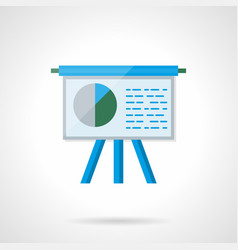 stand with report flat color icon vector image
