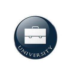 university portfolio vector image