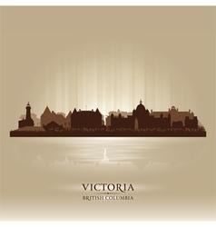 Victoria British Columbia skyline city silhouette vector image vector image