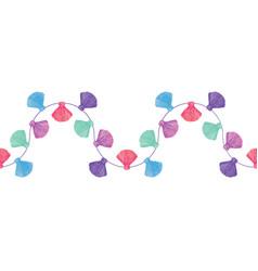 Wavy colorful decorative tassels set vector