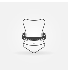 Weight loss icon vector image