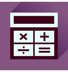 Flat icon with long shadow calculator business vector