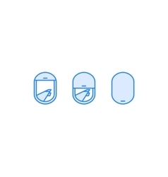 Airplane window view icon vector