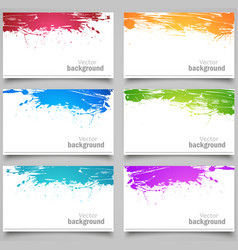Set of colored cards vector