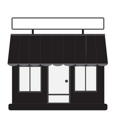 Store front shop and market vector
