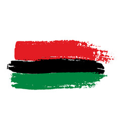 Pan-african flag vector