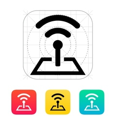 Radio tower base icon vector