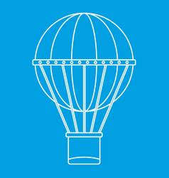 Aerial transportation icon outline style vector