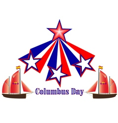 Columbus day in america vector