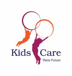Kids care logo vector