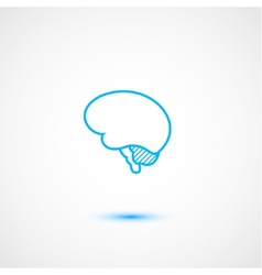 Minimal brain icon vector