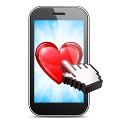 Mobile love vector