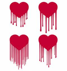 Heart drips vector
