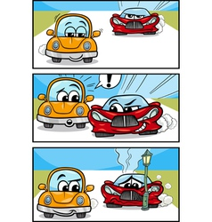 Cars cartoon comic story vector