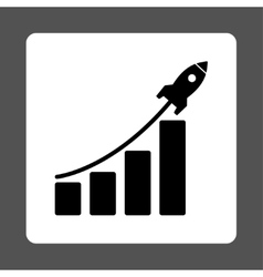 Startup sales icon vector