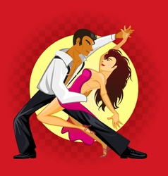 Salsa dance vector