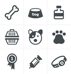 Dog icons set design vector