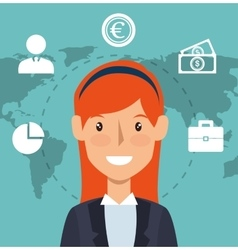 Avatar business woman vector