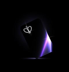 black card crown vector image