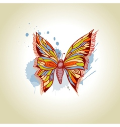 Butterfly and ink splats vector