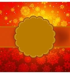 Cute warm color christmas card EPS 8 vector image