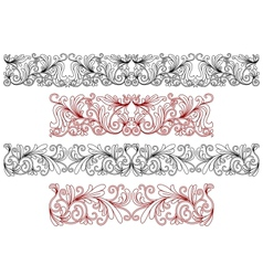 Decorative ornaments and borders vector image vector image